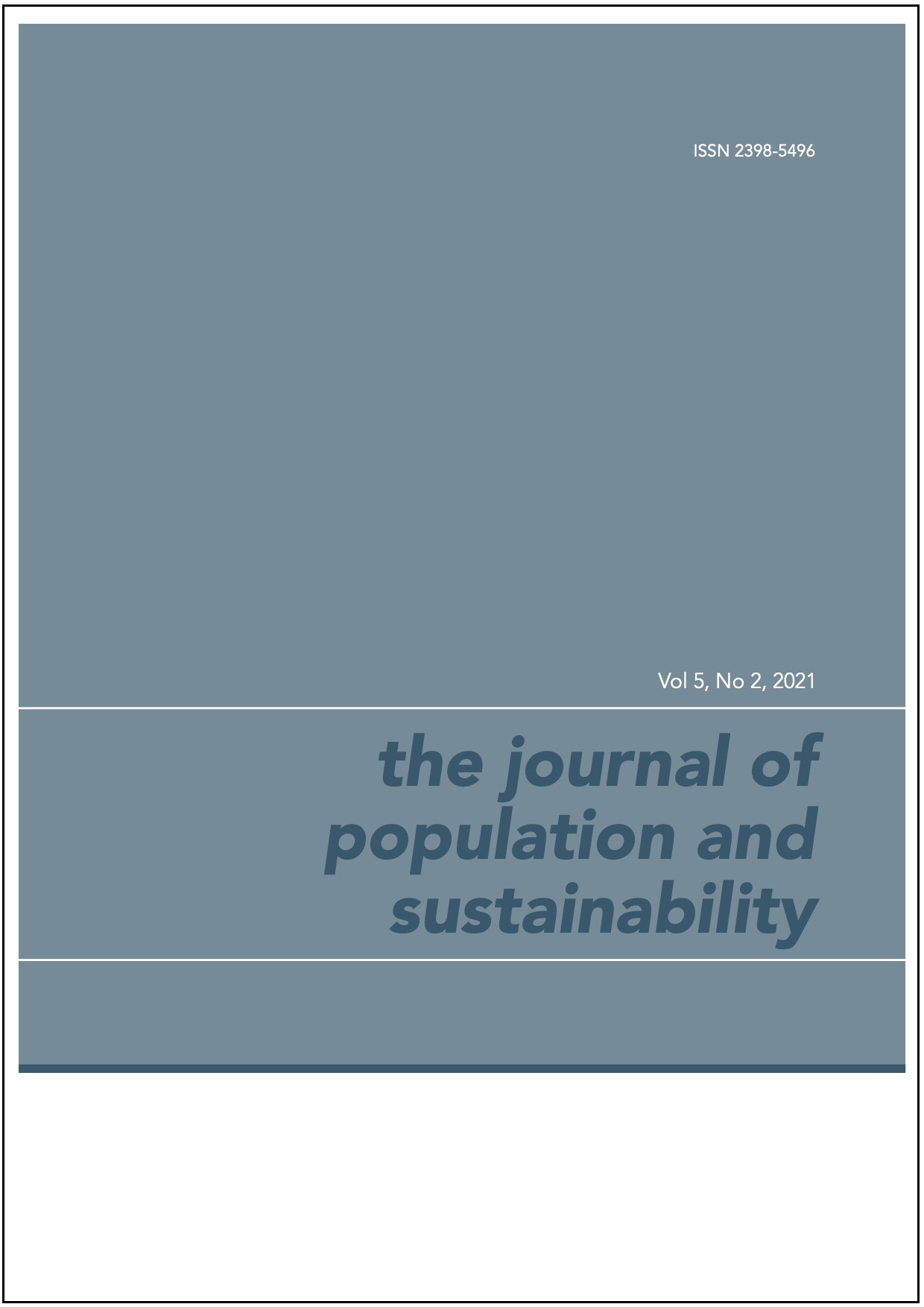 Text-only image of the cover of this issue, grey green background.